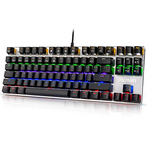 Hcman Mechanical Gaming Keyboard Blue Switches,PC...