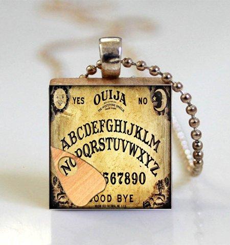 - Pretty Lee 1 Pc The Ouija Board Transformers Glass Dome Jewelry Scrabble Tie Necklace