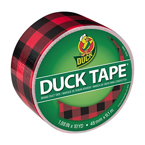 Duck Brand Printed Duct Tape, Buffalo Plaid, 1.88 Inches x 10 Yards, Single Roll (285222)