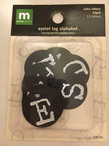 Alphabet Eyelet Tag - Making Memories Eyelet Tag Alphabet Black Letters