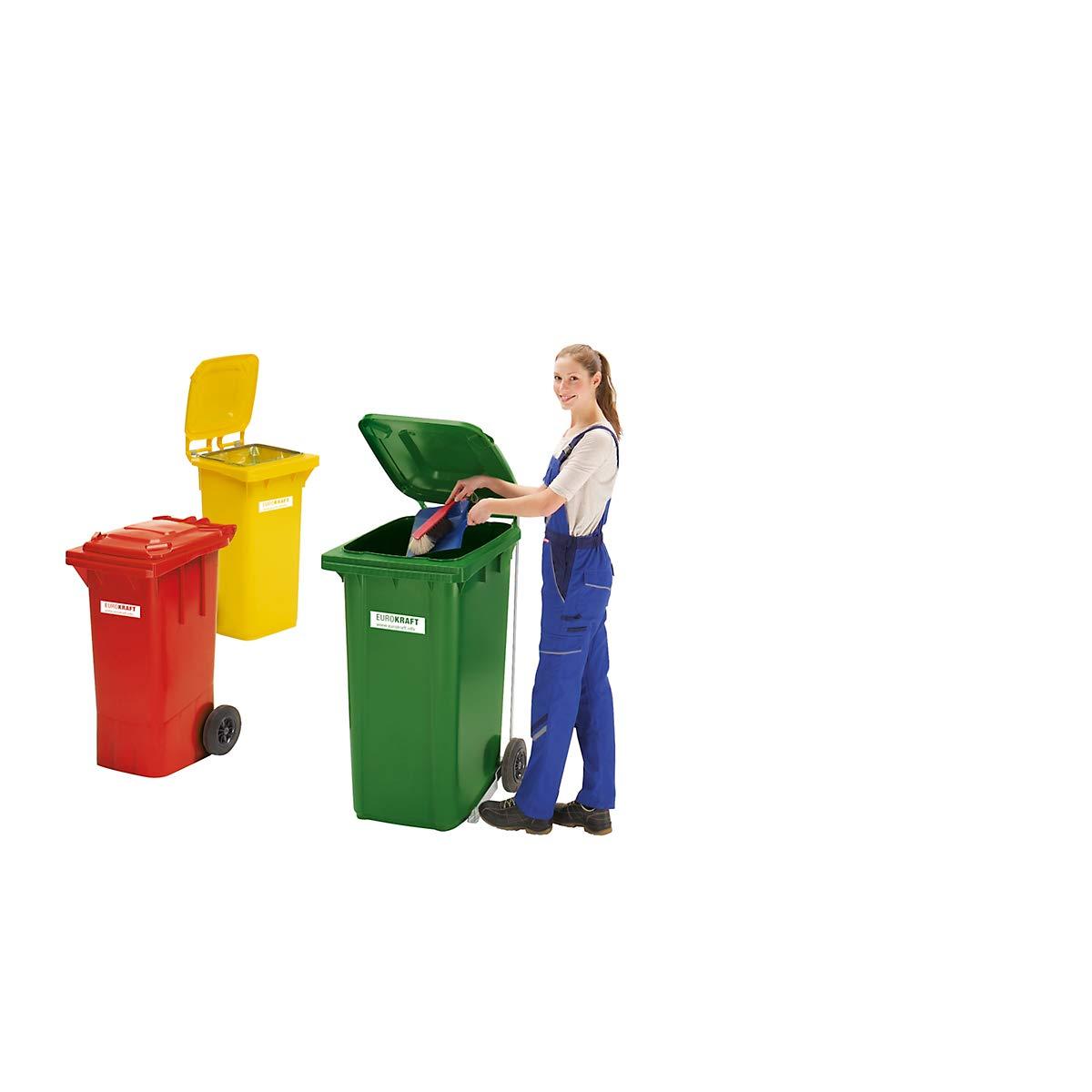 Conteneur /à d/échets Poubelle ext/érieure /Élimination des d/échets Tri des d/échets Jaune capacit/é 360 litres Conteneur /à d/échets en plastique conforme normes Europe