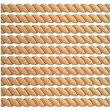 PVS 3/4'' x 96'' Half Round (Split) Real Wood Unfinished Rope Molding Moulding Trim, Oak Wood - 10 Pack (80 Total Feet)