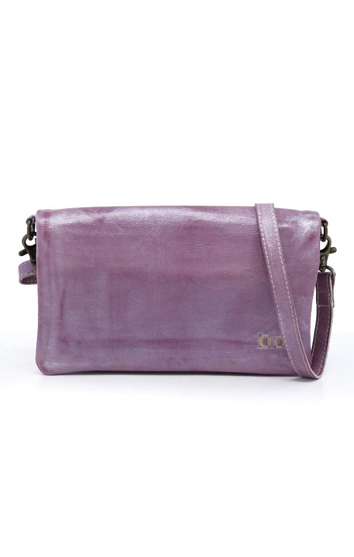 Bed|Stu Women's Cadence Leather Wallet, Crossbody or Clutch (Lilac Rustic Silver Metallic)