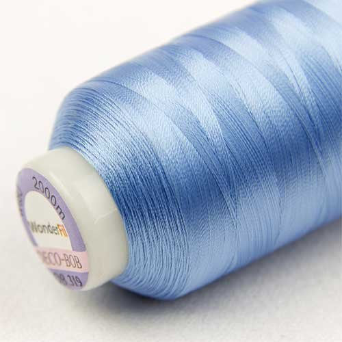 80wt WonderFil Specialty Threads DecoBob Brown-Grey 2-ply Cottonized Polyester