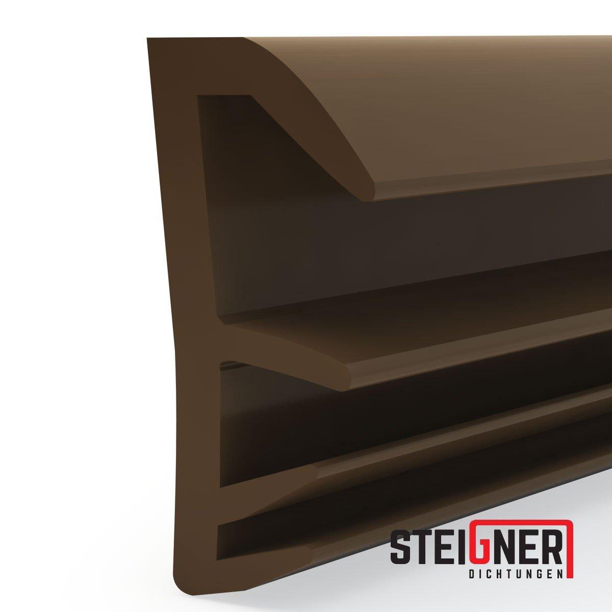 STEIGNER Fl/ügelfalzdichtung Fensterdichtung Nutbreite 5mm aus TPE SFD14 Weiss 5m