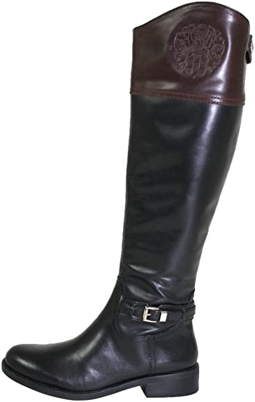 Brown Leather Riding Boot Wide Calf