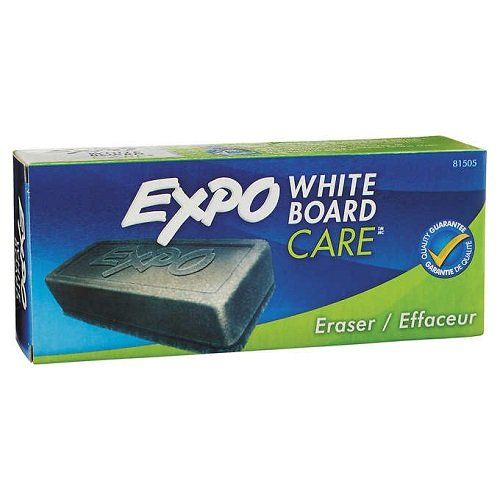 Expo Block Eraser 81505 Dry Erase Whiteboard Board Eraser, Soft Pile, 5 1/8 W x 1 1/4 H - Pack of 3
