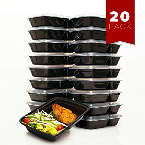Read About FitBoxx 32 oz Plastic Meal Prep Containers [20 pack], Plastic Food Storage Containers wit...