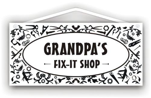 Grandpa's Fix-It Shop - indoor/outdoor sign