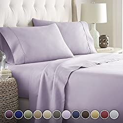 Hotel Luxury Bed Sheets Set Today! On Amazon Softest Bedding 1800 Series Platinum Collection-100%!Deep Pocket,Wrinkle & Fade Resistant (Full,Lavender)