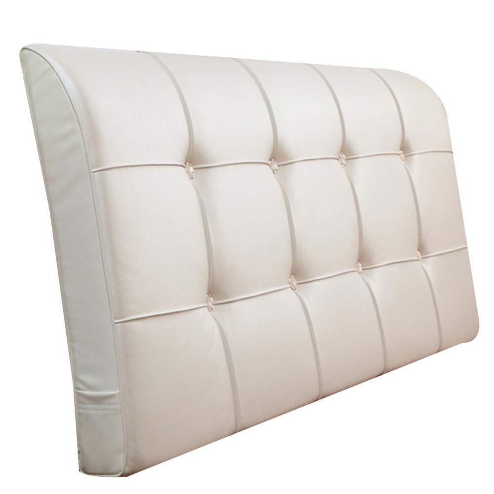 SXT 生地の純木のベッドの頭部の大きいあと振れ止め、ベッドの頭部無し1.8mの寝室の二重洗濯できる壁のクッション9 cm色 (Color : 白, サイズ : 180x9x58cm) B07QRRTNZN 白 180x9x58cm