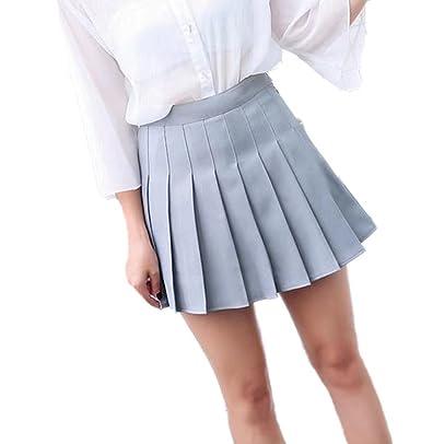 7754db329b2 Amazon   YINGCAN(インチャン)レディース 学生 制服 ショート ミニ スカート 女子高生 通学 美脚 Aライン 春 夏 秋 プリーツ  スカート   スカート 通販