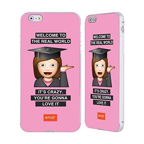 Officiel Emoji Monde Réel Graduation Argent Étui Coque Aluminium Bumper Slider pour Apple iPhone 6 Plus / 6s Plus