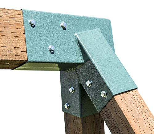 Squirrel Products A-Frame Swing Set Bracket - For 2 (4X4) Legs & 1 (4X6) Beam - Includes Installation (A-frame Brackets)