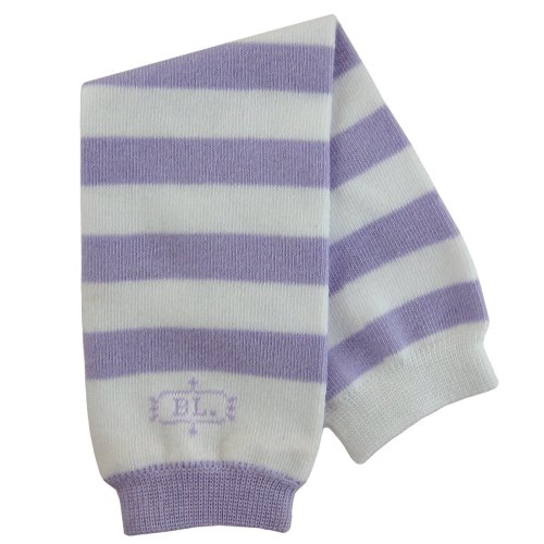 BabyLegs Baby-Girls:Baby-Boy's Basics Collection Leg Warmers, Purple/White Stripe, One Size