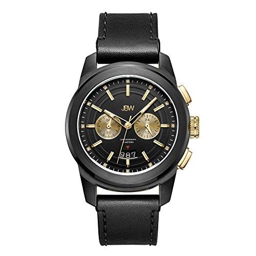 JBW Men's J6352C Mohawk 0.12 ctw Black Ion-Plated Stainless Steel Diamond Watch