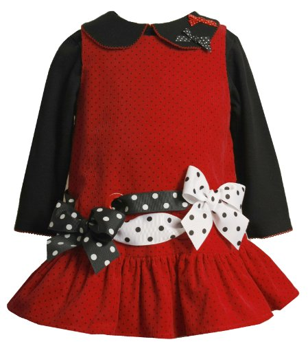 Bonnie Jean Red Girl Dress Set
