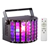 Dommia DJ Lights - LED Stage Lighting Dance Club Party Disco Light with 9 Colors Multi-Effect by Remote Control and DMX512 for Party KTV Club, DJ Wedding Events (Metal Casing)