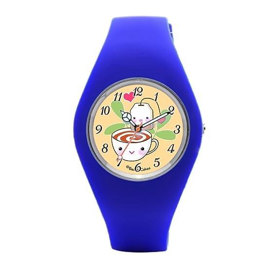 Barato Relojes de pulsera. Alimentos Kawaii para amigos silicona reloj de pulsera