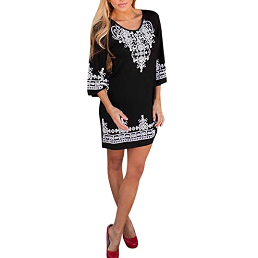 e7a2bbe26d5 Sunward 2018 Mommy and Me Dress Casual Family Outfits Summer Matching Dress  (Black(Mom