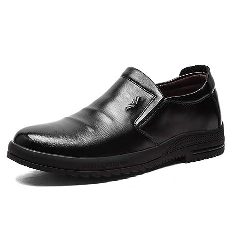 8d6fb7a524582 Amazon.com: Hilotu Men's Oxford Shoes Formal Business Shoes OX ...