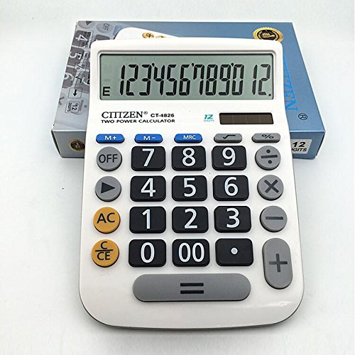 Calculator,12-Digits Solar Battery Button Battery Dual Two Way Power Large Display Standard Office Finacial Desktop Calculators … by e-cholife (Image #4)