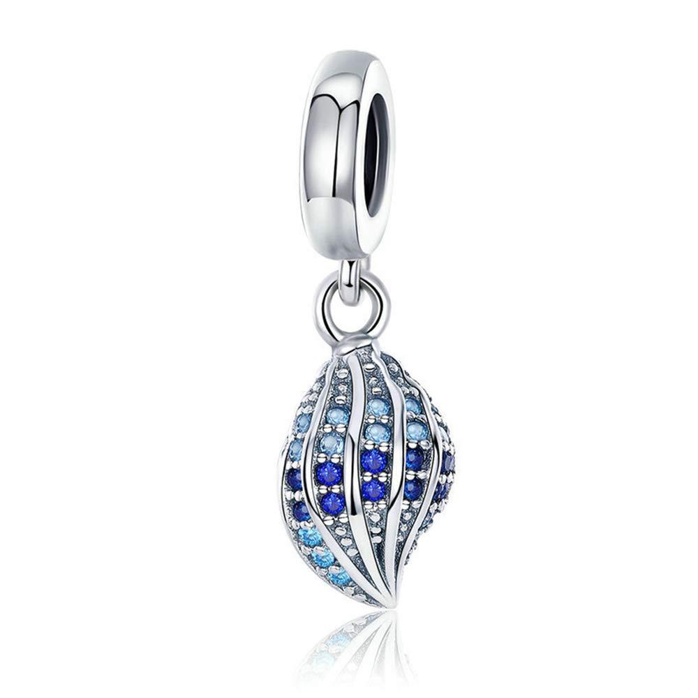 Reiko Coquille 925 Argent Charms Bricolage Perles Pour Filles, Cadeau De Noël Pour Femme Fille, Coffrets Cadeaux, Sans Nickel Cadeau De Noël Pour Femme Fille