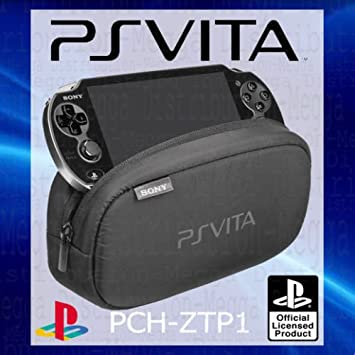 OFFICIAL Sony Playstation PS Vita Soft Travel Pouch Carry Case Bag - WITH DUAL STORAGE COMPARTMENTS FOR PERIPHERALS + MEMORY CARD SLOTS - PCH-ZTP1 ...