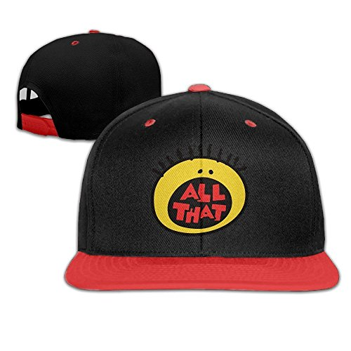 [All That Best 90S Kids Tv Shows Hip Hop Two Tone Twill Cap Red/Black] (90s Hip Hop Costume)