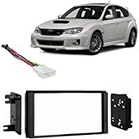 Fits Subaru Impreza WRX 12-14 w/o Factory NAV DDIN Harness Radio Dash Kit