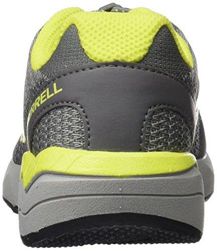 Merrell Mi Versent, Zapatillas Para Niños Multicolor (Grey/Lime)