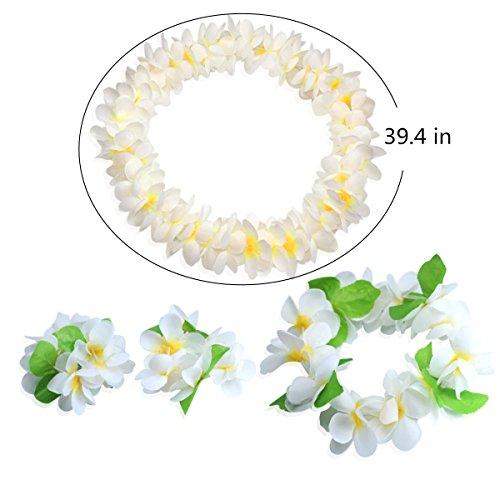 Hawaiian Headpiece,Hawaiian Flower Leis Jumbo Necklace