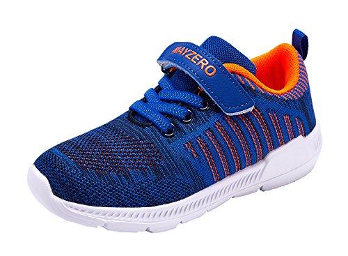 Vivay Kids Lightweight Sneakers Boys Girls Easy Walk Velcro Running Tennis Shoes