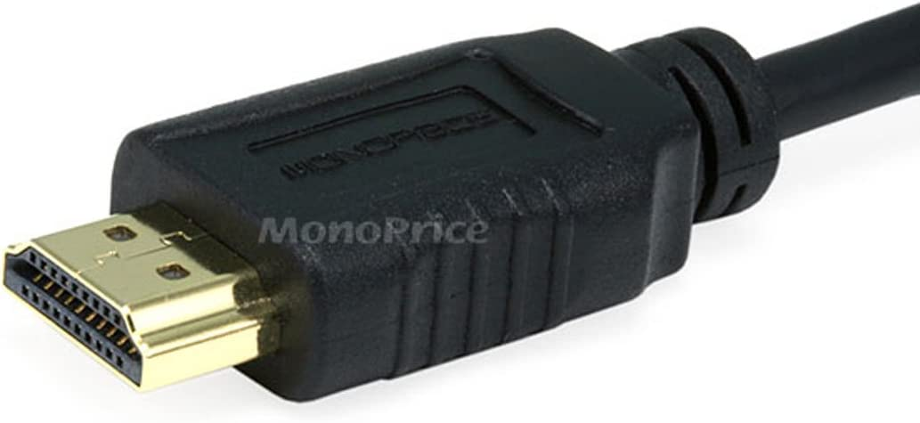 HDMI Micro Connector male to HDMI Connector male Black Monoprice 10ft 34AWG Standard HDMI Cable With Ethernet w//Ferrite Core