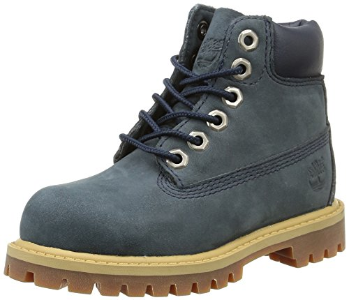 Timberland Children's 6'' Premium Waterproof Boot,Navy Leather,US 13 M by Timberland