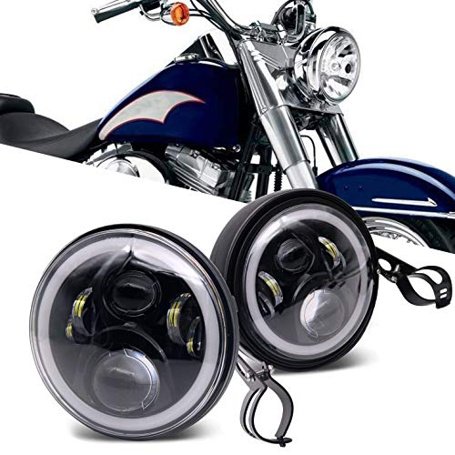 7 Inch led Headlights with 7 inch Housing Bucket DRL Turn Signal Lights Motorcycle ()