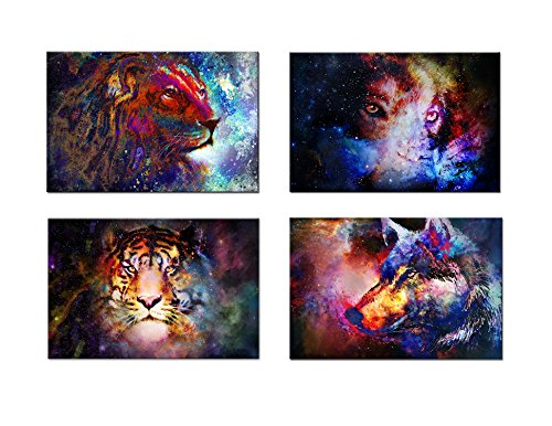 4 Sets of Discounts Colorful Animals Abstract Home