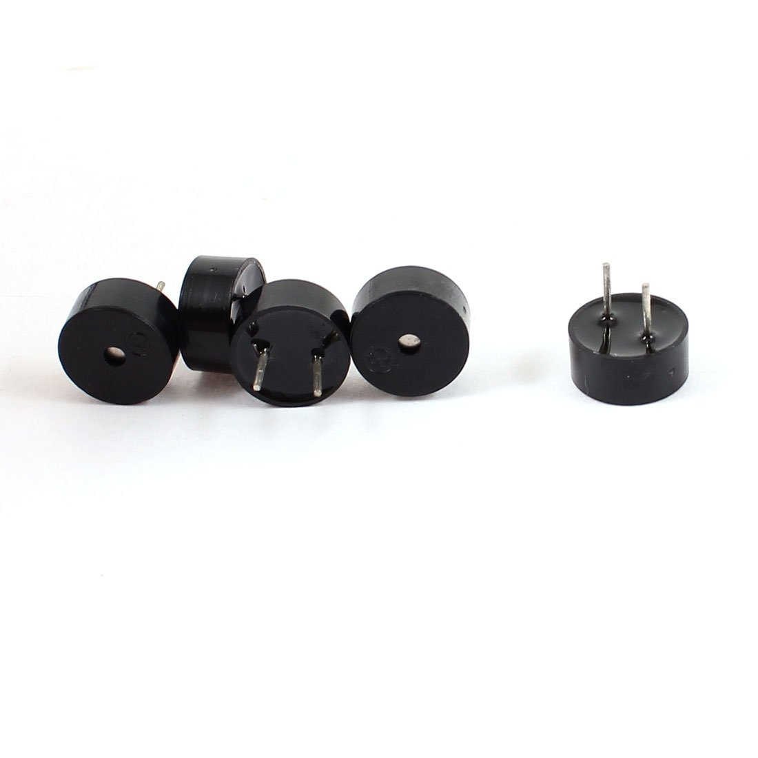Aexit 5 Pcs Security & Surveillance DC 3 5V Electronic Continuous Passive Sound Horns & Sirens Buzzer Black