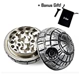Best Herb Grinders - D-STAR® Death Star Wars 3Pcs Weed Tobacco Spice Review