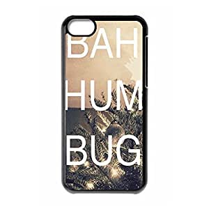 Bah Hum Bug skin Fashion Printed Custom Hard Back Case Cover for iphone 5s C water iphone 5s Cs ¡ê¡§Black still 1022iphone 5siphone 5s¡ê? This