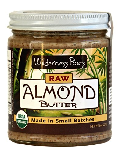 Wilderness Poets Raw Almond Butter - Organic Raw Almond Butter - 8 oz (227 g)