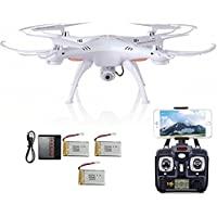 Dazhong Syma X5SW RC Quadcopter Drone ,2.4GHz 4 CH WiFi FPV Quadcopter with 0.3MP HD Camera 6 Axis 3D Flip Flight UFO RTF(3 pieces batteries )