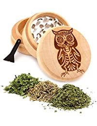 Bargain Owl Engraved Premium Natural Wooden Grinder Item # PW91316-10 compare
