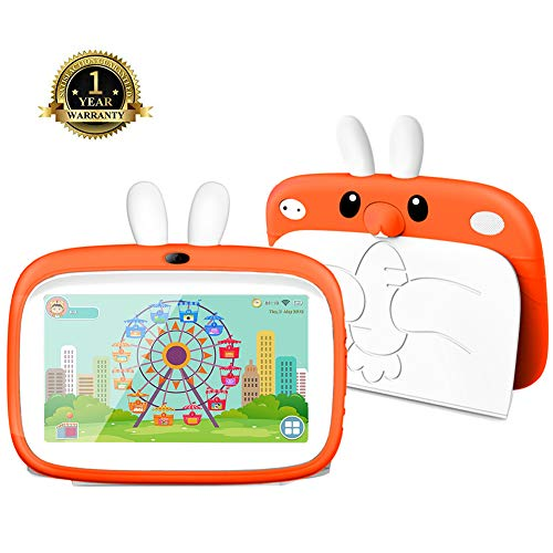 Kids Tablet, 7 inch HD Display Kids Mode Pre-Installed Learning&Games Apps with WiFi and Camera 1024×600 IPS Safety Screen 1G+8G Android Tablet Kid-Proof Case