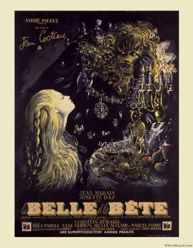 Beauty and the Beast French Movie Poster reproduction