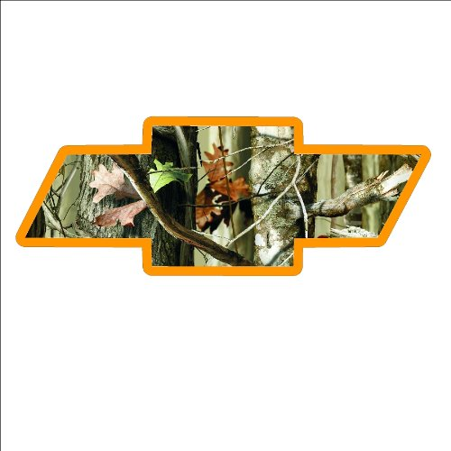 Woody Camo (Signs by Woody #63 small camo bowtie Window Decal)