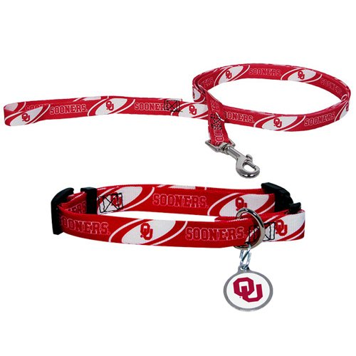 Hunter University of Oklahoma Pet Combo Set (Collar, Lead, ID Tag), Large