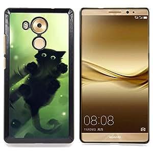 cool cute cat water mirror reflection black Caja protectora de pl??stico duro Dise?¡Àado King Case For Huawei Mate 8