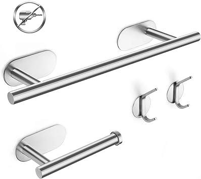 2 porta carta igienica 3 ganci per accappatoio Set di 6 portasciugamani kit di accessori da bagno resistente Portasciugamani Set di ferramenta per il bagno portasciugamani da bagno da 40 cm