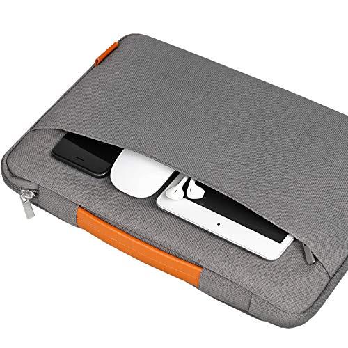 "Inateck 13-13.3 Inch Laptop Sleeve Case Briefcase Cover Protective Bag Ultrabook Netbook Carrying Handbag Compatible 13"" MacBook Air/MacBook Pro(Retina) 2012-2015, 2020/2019/2018/2017/2016, Gray"